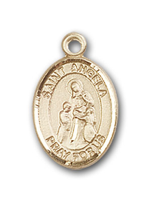 14K Gold St. Angela Merici Pendant