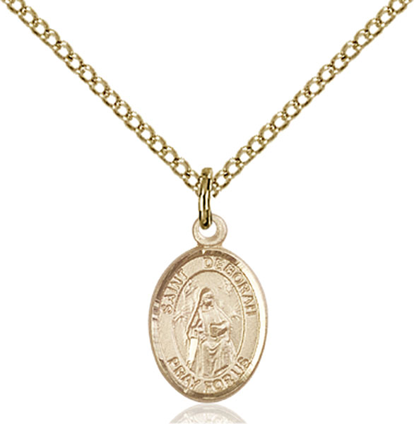Gold-Filled St. Deborah Pendant