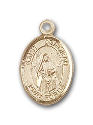 14K Gold St. Deborah Pendant