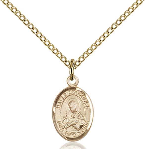 Gold-Filled Mater Dolorosa Pendant