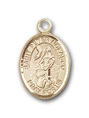 14K Gold St. Peter Nolasco Pendant