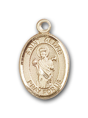 Gold-Filled St. Aedan of Ferns Pendant