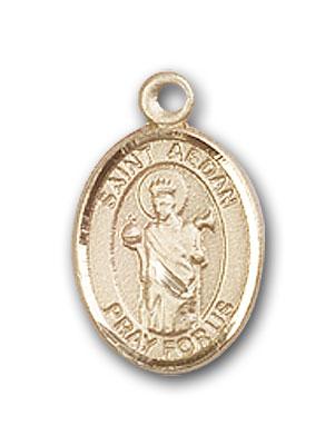 14K Gold St. Aedan of Ferns Pendant