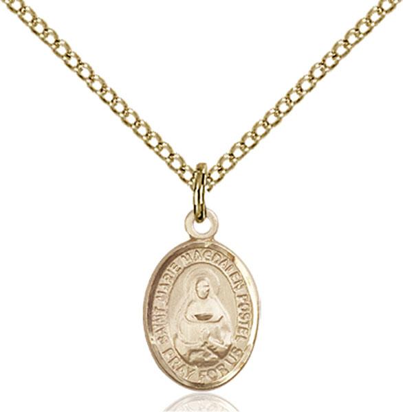 Gold-Filled Marie Magdalen Postel Pendant