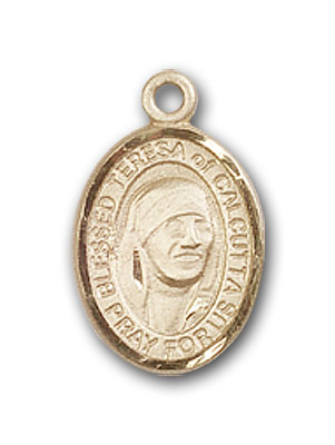 14K Gold Blessed Teresa of Calcutta Pendant