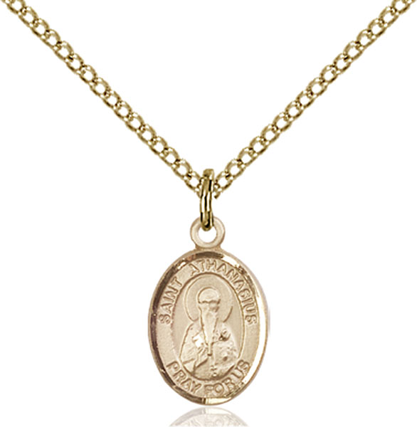 Gold-Filled St. Athanasius Pendant