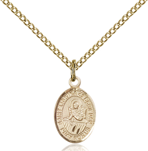 Gold-Filled St. Lidwina of Schiedam Pendant