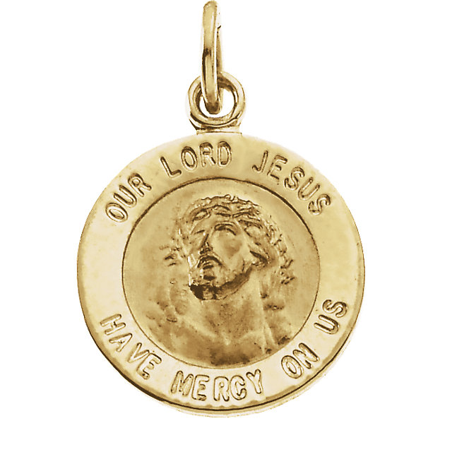 14K Yellow Gold Our Lord Jesus Pendant