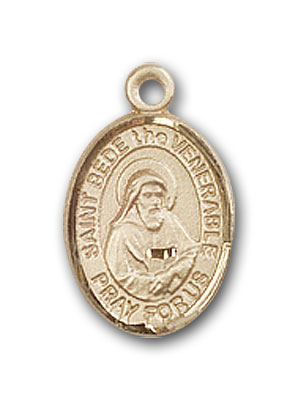 Gold-Filled St. Bede the Venerable Pendant