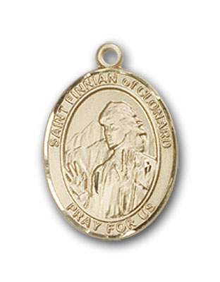 14K Gold St. Finnian of Clonard Pendant