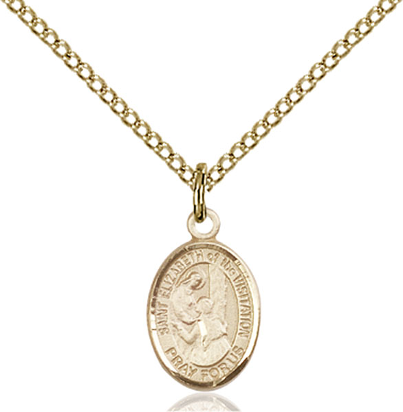Gold-Filled St. Elizabeth of the Visitation Pendan