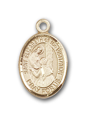 14K Gold St. Elizabeth of the Visitation Pendant