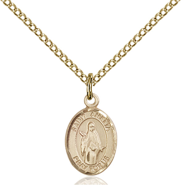Gold-Filled St. Amelia Pendant