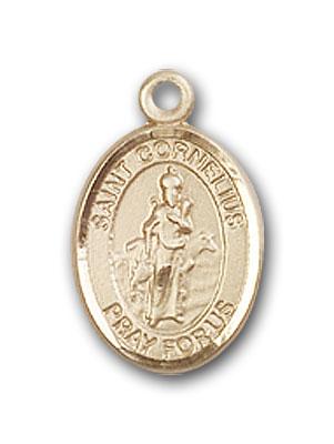14K Gold St. Cornelius Pendant