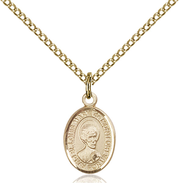 Gold-Filled St. Louis Marie De Montfort Pendant
