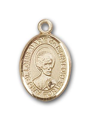 14K Gold St. Louis Marie De Montfort Pendant
