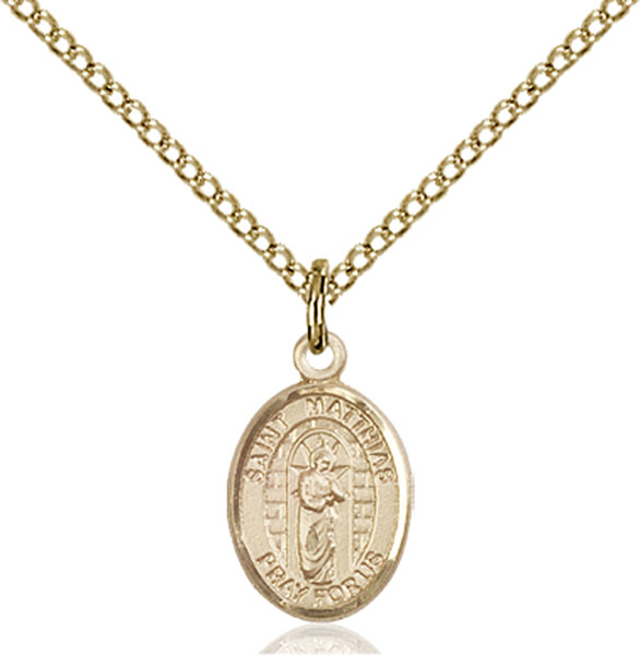Gold-Filled St. Matthias the Apostle Pendant