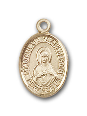14K Gold Immaculate Heart of Mary Pendant