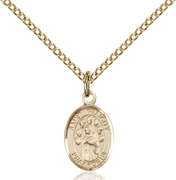 Gold-Filled St. Felicity Pendant