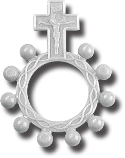 Luminous Plastic Rosary Ring 25-Pack