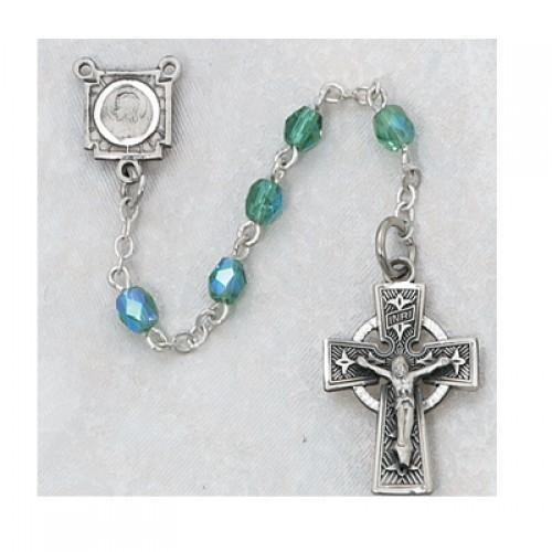 4MM Green Celtic Rosary