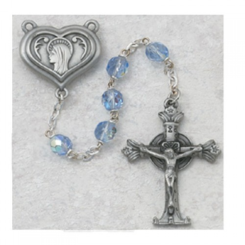 7MM Blue Lourdes Rosary