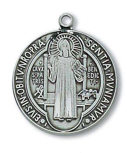Antique Silver St Benedict