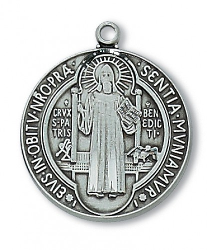 Antique Silver St Benedict