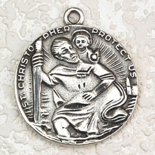 Antique Silver St. Christopher 24/Card