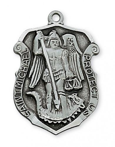 "Antique Silver St Michael 24""Ch&B"