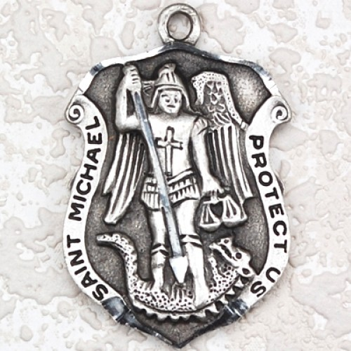 Antique Silver St Michael 24/Car""