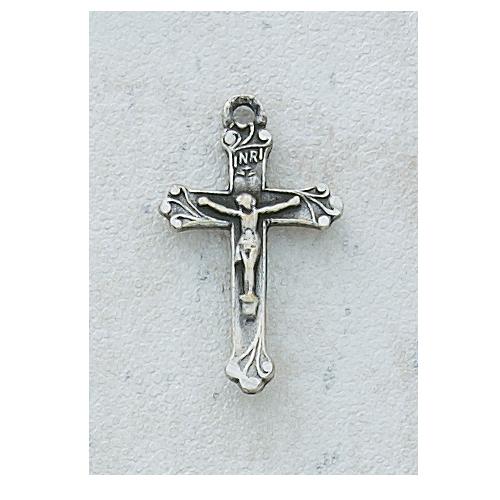 """Antique Silver Crucifix 18"""" Chain"""