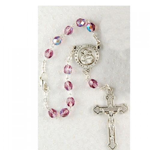 St Joseph Auto Rosary/Carded