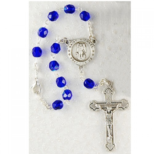 St Michael Auto Rosary Carded