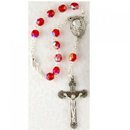 Sacred Heart Auto Rosary Card