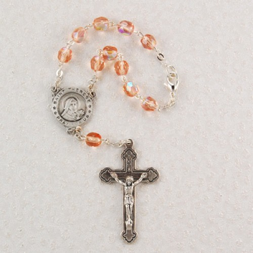 St Therese Auto Rosary/Card