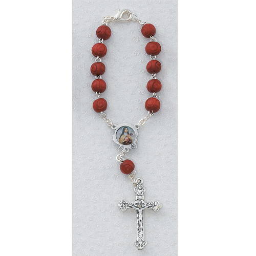 St. Therese Auto Rosary/Carded
