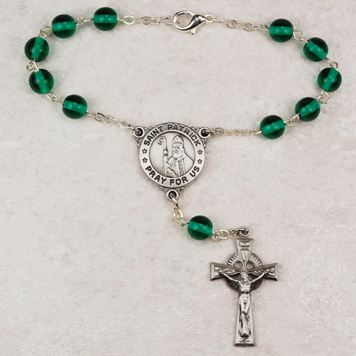 6MM Green Irish Auto Rosary