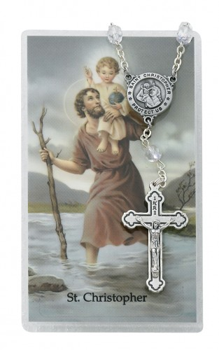 St. Christopher Auto Rosary/Prayer Card Set