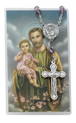 St Joseph Auto Rosary/Pr Card