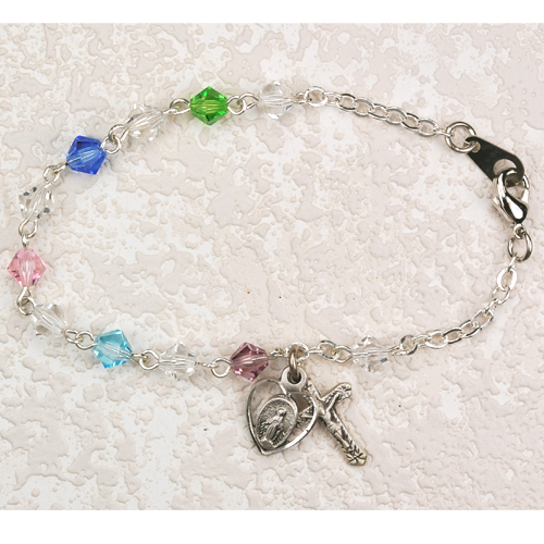 "6 1/2"" 5MM Multi Crystal Bracelet"
