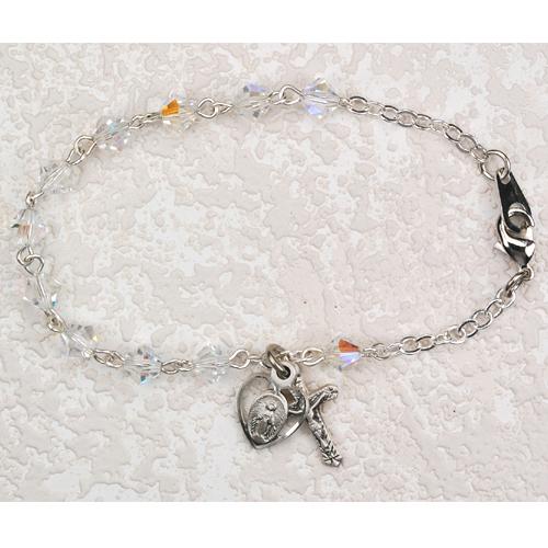 """Sterling Silver 5MM 6 1/2"""" Crystal Bracelet"""
