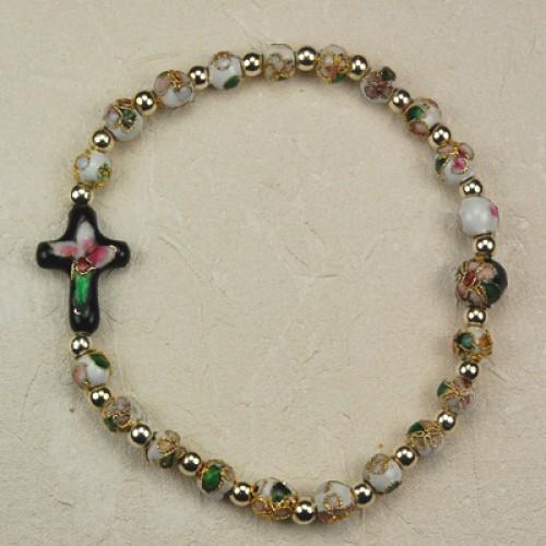 White Cloisonne' Bracelet