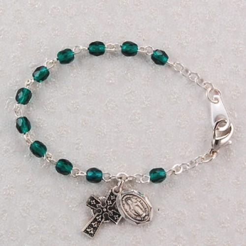 "5 1/2"" Emerald Baby Bracelet"
