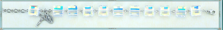 10mm Square Swarovski Crystal Bracelet
