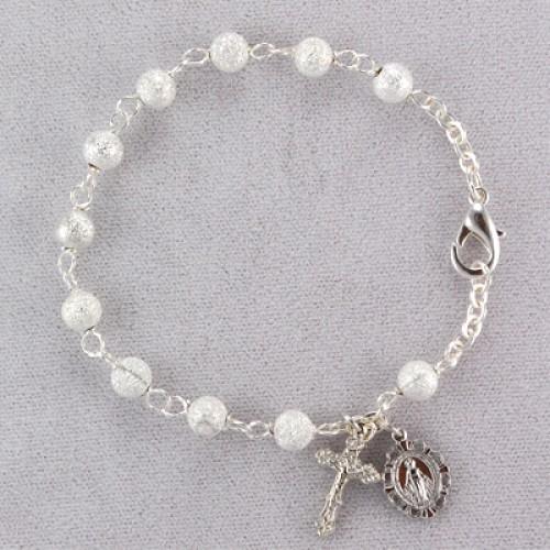 """7 1/2"""" Sparkled Bead Bracelet"""