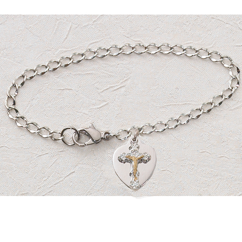 "6 1/2"" Crucifix Charm Bracelet"""