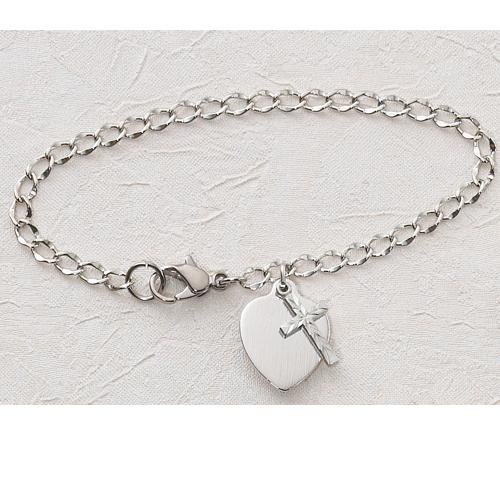 "6 1/2"" Cross Charm Bracelet"""