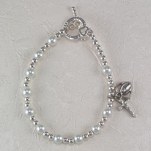 "6 3/4"" White Pearl Bracelet"