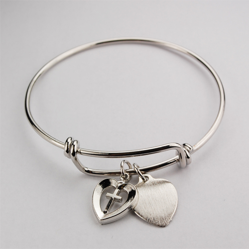 Youth  Heart/Cross Pewter
